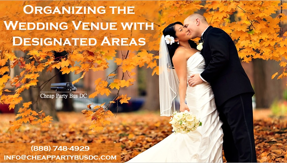 Organizing the Wedding Venue with Designated Areas