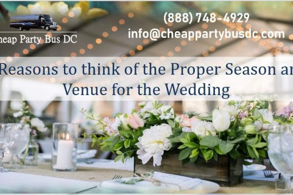 Affording Your Wedding the Best Time for Season and Venue