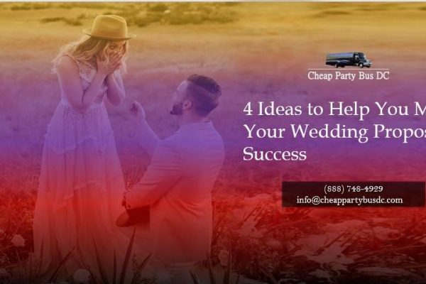 4 Ideas to Help You Make Your Wedding Proposal a Success