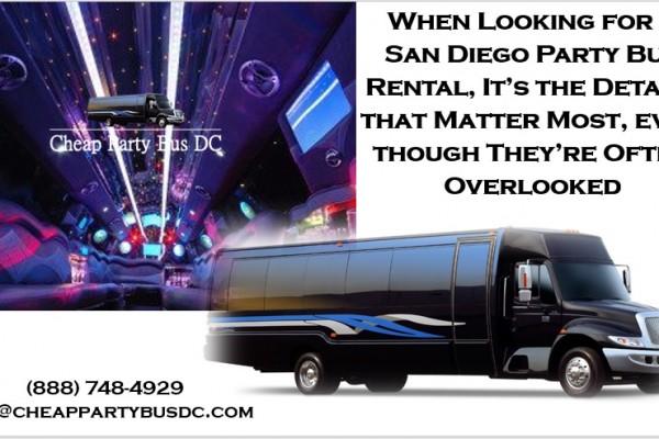 San Diego Party Bus Rental